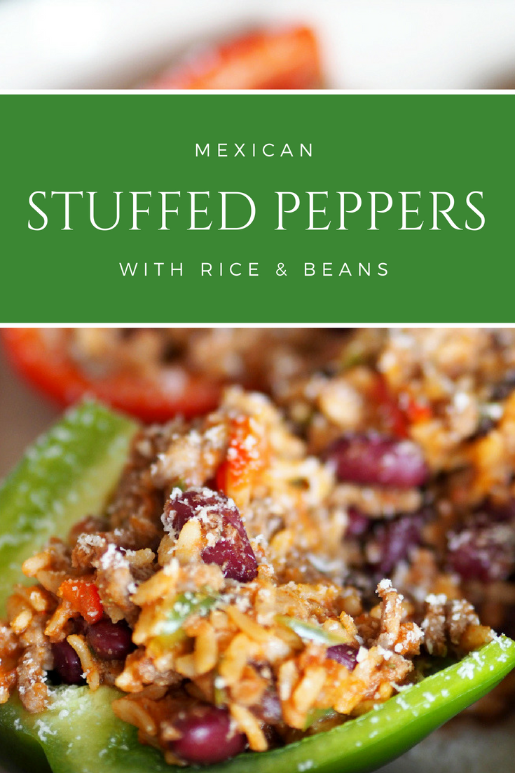 Mexican stuffed peppers, beef, Mexican food, meal planning, easy cooking, simple food, everyday food, gluten free, mince meat, recipe, dinner, savoury, food inspiration, healthy recipes, cheap food, quick and easy, 10 ingredients or less, entertaining,